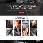 Tattooing Joomla Bootstrap Responsive Template