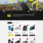 Black Yellow Bike Store PrestaShop Theme