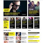 Black White Tickets Website Responsive Website Template