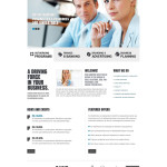 Business Responsive Joomla Bootstrap Template – White