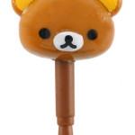 จุกเสียบ iPhone FR-60201 หัวหมีน้ำตาล San-X Rilakkuma
