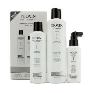 Nioxin ชุดสำหรับผมเส้นเล็ก ผมบาง ผมธรรมดาถึงผมแลดูบาง System 1 3pcs